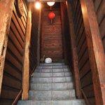 台湾茶藝館 月和茶 - 2階への階段