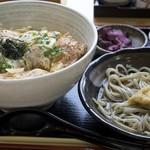 そば処 大正庵 - カツ丼と冷たい蕎麦のセット