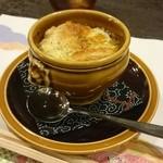 割烹 山さき - 椀物:メバルと大黒しめじのオニオンスープ