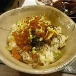 割烹 山さき - ご飯物:松茸と筋子の炊き込みご飯