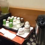 新杵 みちくさ餅 - セルフサービスのお茶