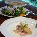 トラットリア セッテ - パン、セッテサラダ、もう一つのサラダ15.11
