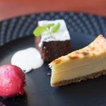 ブション・プロヴァンサル Chez AZUMA - 手作り感の詰まった美味しいデザートです。