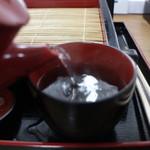 あき乃 - 蕎麦湯