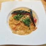 スリームーン - 彩り野菜のトマトクリームパスタ