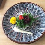 うな慎 - 料理写真:2015.11.21 鰻のお刺身