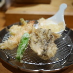 天ぷらめし 金子半之助  - 天ぷらめしの一皿め