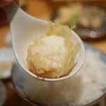 天ぷらめし 金子半之助  - たまごの天ぷら