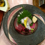 旅行人山荘 - お刺身:太刀魚、マグロ
