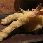 44681208 - セットの天ぷら盛り合わせ