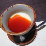 日本料理加賀 - デザートのプリン