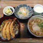 優 - ランチメニュー  天丼セット  ¥1000