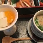 44685078 - 杏仁豆腐と茶碗蒸し