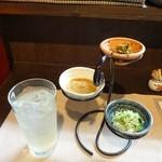 Oosugi - レモンサワーとお通し三品