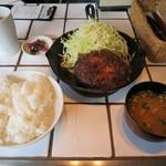 東京トンテキ - トンバーグ定食(すりおろし玉ねぎのソース)