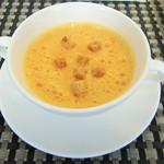 44694444 - ランチ共通「パプリカのスープ」