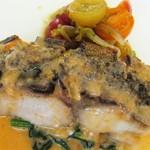 44694475 - ランチ共通「魚料理・イナダのソテー」