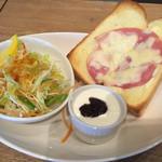 44699259 - ハムチーズトーストセット450円