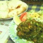 インド料理 ダルバール - ハーブチキンサラダ+キーマナン