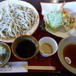 三久 - 天ぷら付きざる蕎麦 1,200円