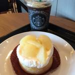 スターバックス・コーヒー - 本日のアイスコーヒー(ハウスブレンド)と洋梨のタルト