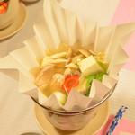 日本料理 茶寮このみ - 海鮮の紙鍋