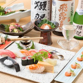 高級食材や季節鮮魚を彩り鮮やかなヒトサラでご提供致します。