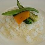 ラウンジ チャグア - アグーと地場野菜のスパイシーカレー(1200円,税別)