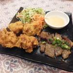 KHANHのベトナムキッチンGINZA999・Chi em - 鶏の唐揚げ・チリマヨディップ・ヴェトナム風豚焼き肉