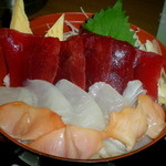 どんぶり亭 松本 - H27.10 三色丼 彩り満載、美味この上なし