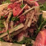 LION CURRY - スパイススモークビーフのマスタードサラダ。前菜に!