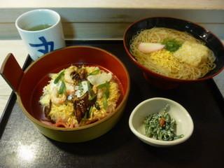 すし丸本店 - 松山鮓セット(松山鮓、素麺、小鉢)