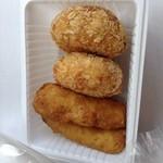 とうふ処 三河屋 - 豆腐コロッケ65円×2と湯葉巻揚げ95円×2