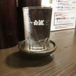 室町ノおみつ - グラスは白波だけど、中身は獺祭50