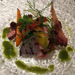 アユート  - 岩ダコとアジの香味野菜のサラダ(2015月11日ディナー)