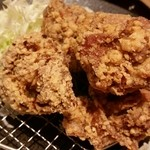 とり多津 - 唐揚げ定食(唐揚げ大盛)醤油味