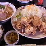 喜らく - 料理写真:唐揚げ定食