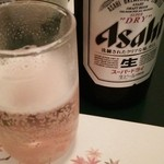 先斗町 華めぐり - 瓶ビール(ASAHI SD 中) 700円