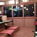 先斗町 華めぐり - 夏場は開放されるんでしょうねぇ(ガラスの向こうは鴨川)
