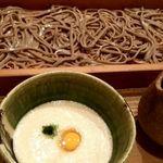 板蕎麦 香り家 - 山とろ蕎麦きり 太麺
