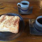 陣屋 - シナモントーストにコーヒー