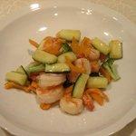 枉駕 - 海老と野菜の塩炒め