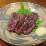 にほん酒食堂 しずく - 鯨肉のパストラミ