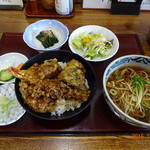 44732107 - 天丼とそば(長男)セット1,015円(税込)