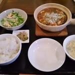 中華食堂 あんじょう - 麻婆豆腐ランチセット 1,080円