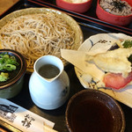 蕎麦居酒屋 重市 - 料理写真:八割天ざる  1330円