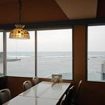 三日月亭 - 店内から太平洋を眺望