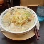 44738627 - 1日分の野菜(350g)が取れる 野菜たっぷりタンメンの(麺少なめ)470円