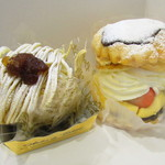 エイセンドウ - 料理写真:和栗のモンブラン、ミルフィーユ