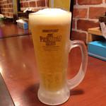 だいきちカレー - キンキンビール